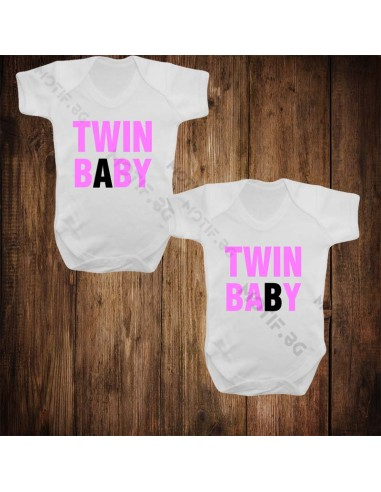 Бебешки бодита Motif Twin baby