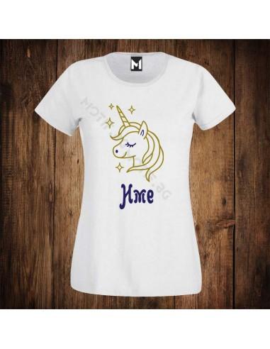 Детска тениска Motif Unicorn + име