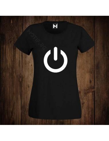 Тениска Motif Power button